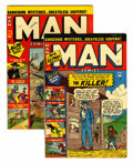 Golden Age (1938-1955):Non-Fiction, Man Comics #7 and 9 New Hampshire pedigree Group (Atlas, 1951)Condition: Average VF-.... (Total: 2 Comic Books)