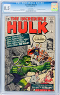 Silver Age (1956-1969):Superhero, The Incredible Hulk #5 (Marvel, 1963) CGC VF+ 8.5 White pages....