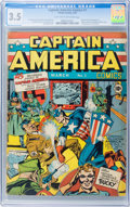 Golden Age (1938-1955):Superhero, Captain America Comics #1 (Timely, 1941) CGC VG- 3.5 Light tan to off-white pages....