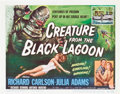 "Movie Posters:Horror, Creature from the Black Lagoon (Universal International, 1954).Title Lobby Card and Lobby Card (11"" X 14"").. ... (Total: 2 Items)"