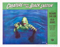 """Movie Posters:Horror, Creature from the Black Lagoon (Universal International, 1954).Lobby Card (11"""" X 14"""").. ..."""
