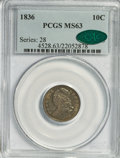 Bust Dimes, 1836 10C MS63 PCGS. CAC....