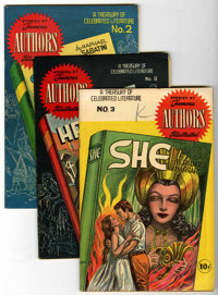 Stories by Famous Authors Illustrated Group (Seaboard Pub., 1950s) Condition: Average VF+.... (Total: 7 Comic Books)