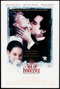 """The Age of Innocence (Columbia, 1993). One Sheet (27"""" X 41"""") DS. Drama"""