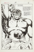 Original Comic Art:Splash Pages, John Byrne Marvel Fanfare #29 Hulk Splash Page 6 OriginalArt (Marvel, 1986)....