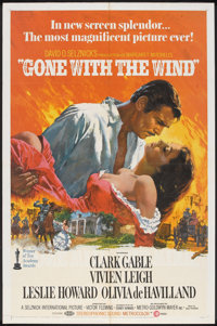 "Gone with the Wind (MGM, R-1968). One Sheet (27"" X 41""). Romance"