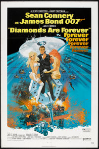 """Diamonds Are Forever (United Artists, 1971). One Sheet (27"""" X 41""""). James Bond"""