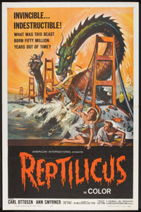 """Reptilicus (American International, 1962). One Sheet (27"""" X 41""""). Science Fiction"""