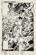 Original Comic Art:Covers, Rick Leonardi and P. Craig Russell X-Men #235 Cover Original Art (Marvel, 1988)....