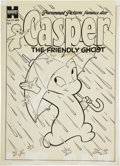 Original Comic Art:Covers, Casper, the Friendly Ghost #19 Cover Original Art (Harvey,1954)....
