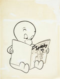 Original Comic Art:Covers, Casper, the Friendly Ghost #55 Unpublished Alternative CoverOriginal Art (Harvey, 1957)....