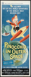 "Movie Posters:Animated, Pinocchio In Outer Space (Universal, 1965). Insert (14"" X 36"").Animated.. ..."