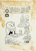 Original Comic Art:Covers, Warren Kremer Richie Rich #9 Cover Original Art (Harvey,1962)....