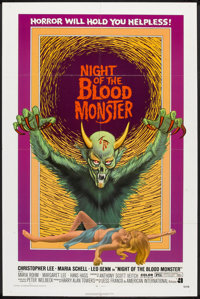 "Night of the Blood Monster (American International, 1972). One Sheet (27"" X 41""). Horror"