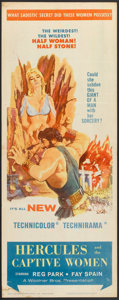 "Movie Posters:Adventure, Hercules and the Captive Women (Woolner Brothers, 1963). Insert(14"" X 36""). Adventure.. ..."