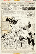 Original Comic Art:Splash Pages, Sal Buscema and Mike Esposito Marvel Team-Up Annual #1Spider-Man and the X-Men Splash Page 1 Original Art...