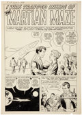 "Original Comic Art:Panel Pages, Steve Ditko Tales of Suspense #7 ""Martian Maze"" Title Page 1Original Art (Marvel, 1960)...."