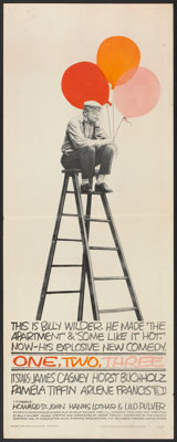 "One, Two, Three (United Artists, 1962). Insert (14"" X 36""). Comedy"