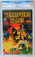 Golden Age (1938-1955):Horror, Terrifying Tales #13 (Star Publications, 1953) CGC VF 8.0 Cream tooff-white pages....
