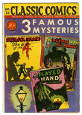 Golden Age (1938-1955):Classics Illustrated, Classic Comics #21 3 Famous Mysteries First Edition (Gilberton,1944) Condition: VG-....
