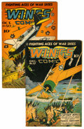 Golden Age (1938-1955):War, Wings Comics #50 and 52 Group (Fiction House, 1944).... (Total: 2Comic Books)