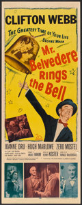 "Movie Posters:Comedy, Mr. Belvedere Rings the Bell (20th Century Fox, 1951). Insert (14"" X 36""). Comedy.. ..."