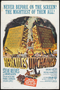 "Hercules Unchained (Warner Brothers, 1959). One Sheet (27"" X 41""). Adventure"