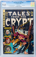 Golden Age (1938-1955):Horror, Tales From the Crypt #44 (EC, 1954) CGC VF/NM 9.0 Off-whitepages....