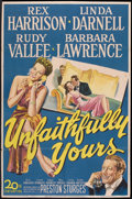 """Movie Posters:Comedy, Unfaithfully Yours (20th Century Fox, 1948). One Sheet (27"""" X 41"""").Comedy.. ..."""
