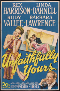 "Unfaithfully Yours (20th Century Fox, 1948). One Sheet (27"" X 41""). Comedy"