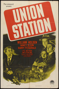 "Union Station (Paramount, 1950). One Sheet (27"" X 41""). Film Noir"