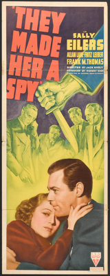 """They Made Her a Spy (RKO, 1939). Insert (14"""" X 36""""). Thriller"""
