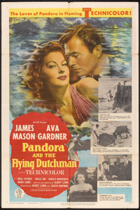 "Pandora and the Flying Dutchman (MGM, 1951). One Sheet (27"" X 41""). Romance"