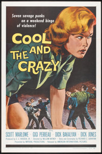"The Cool and the Crazy (American International, 1958). One Sheet (27"" X 41""). Bad Girl"