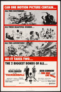 "Movie Posters:James Bond, Thunderball/You Only Live Twice Combo (United Artists, R-1971). OneSheet (27"" X 41""). James Bond.. ..."
