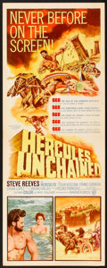 "Movie Posters:Adventure, Hercules Unchained (Warner Brothers, 1960). Insert (14"" X 36"").Adventure.. ..."