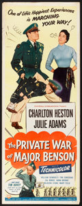 "Movie Posters:Comedy, The Private War of Major Benson (Universal International, 1955). Insert (14"" X 36""). Comedy.. ..."