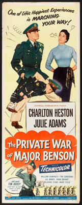 "The Private War of Major Benson (Universal International, 1955). Insert (14"" X 36""). Comedy"