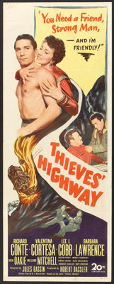 "Thieves' Highway (20th Century Fox, 1949). Insert (14"" X 36""). Film Noir"
