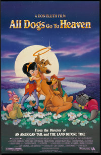 """All Dogs Go to Heaven Lot (United Artists, 1989). One Sheets (26"""" X 40"""") DS and (27"""" X 40"""") DS. Anim..."""