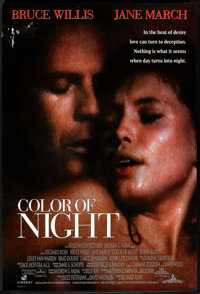 """Color of Night (Buena Vista, 1994). One Sheet (27"""" X 40"""") DS. Mystery"""