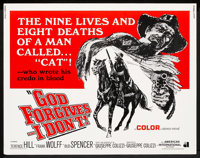 "God Forgives, I Don't (American International, 1969). Half Sheet (22"" X 28""). Western"