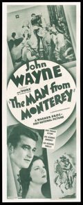 """Movie Posters:Western, The Man from Monterey (Warner Brothers, R-Late 1930s). Insert (14"""" X 36""""). Western.. ..."""