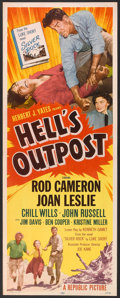 "Movie Posters:Western, Hell's Outpost (Republic, 1955). Insert (14"" X 36""). Western.. ..."