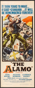 """Movie Posters:Western, The Alamo (United Artists, 1960). Insert (14"""" X 36""""). Western.. ..."""
