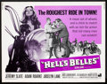 "Movie Posters:Action, Hell's Belles (American International, 1969). Half Sheet (22"" X28""). Action.. ..."
