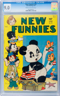 Golden Age (1938-1955):Funny Animal, New Funnies #76 (Dell, 1943) CGC VF/NM 9.0 Cream to off-whitepages....