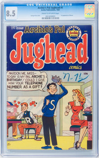 Archie's Pal Jughead #1 (Archie, 1949) CGC VF+ 8.5 Cream to off-white pages