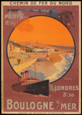 "Movie Posters:Miscellaneous, Chemin de Fer du Nord Railways Poster (CF du Nord, 1924). French Poster (29"" X 41""). Travel.. ..."