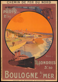 "Chemin de Fer du Nord Railways Poster (CF du Nord, 1924). French Poster (29"" X 41""). Travel"